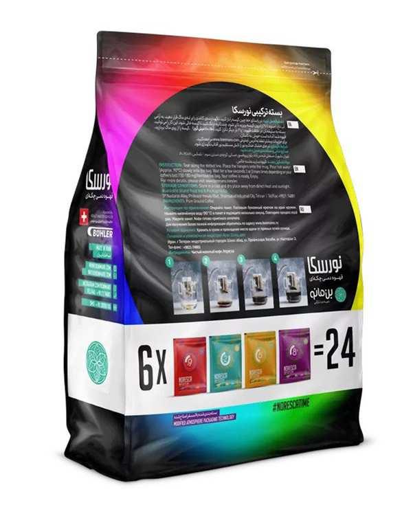 پودر قهوه ترکیبی نورسکا بن مانو بسته 24 عددی