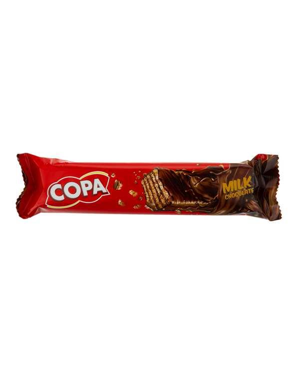 بسته 30 عددی ویفر کاکائویی با روکش شکلات شیری 32 گرمی کوپا