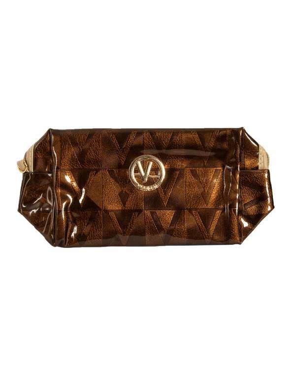 کیف لوازم آرایشی زنانه مدل P105 قهوه ای ورژن