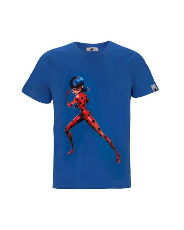 تی شرت دخترانه نخی طرح Ladybug سورا