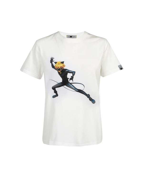تی شرت پسرانه نخی طرح Cat Noir سورا