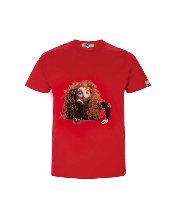 تی شرت دخترانه نخی طرح Braveسورا