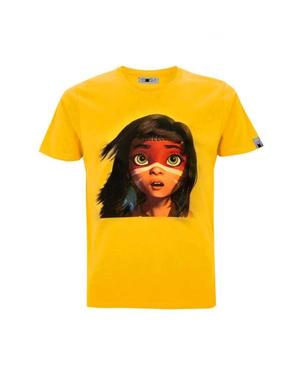 تی شرت دخترانه نخی طرح Ainboسورا