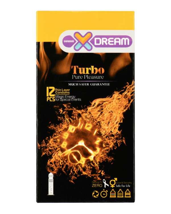 کاندوم توربو مدل Turbo ایکس دریم بسته 12 عددی