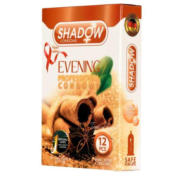 کاندوم دارچینی مدل Evening شادو بسته 12 عددی