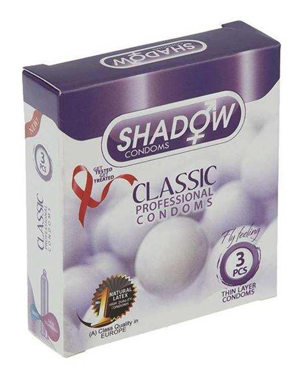 کاندوم شفاف مدل Classic شادو بسته 3 عددی