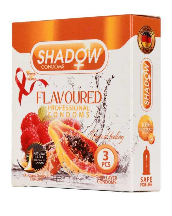 کاندوم مدل Flavoured شادو بسته 3 عددی