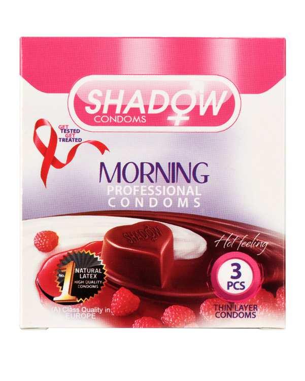 کاندوم خاردار شکلاتی Morning شادو بسته 3 عددی