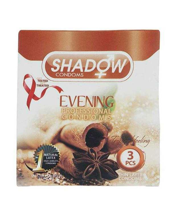کاندوم دارچینی مدل Evening شادو بسته 3 عددی
