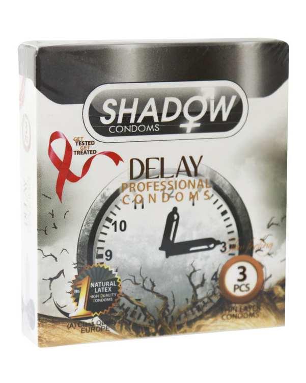 کاندوم تاخیری مدل Delay شادو 3 عددی