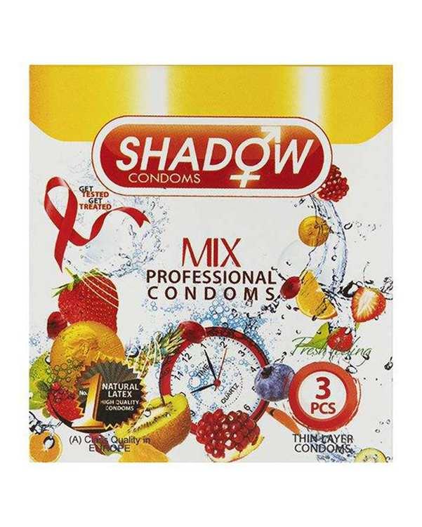 کاندوم مدل Mix شادو بسته 3 عددی