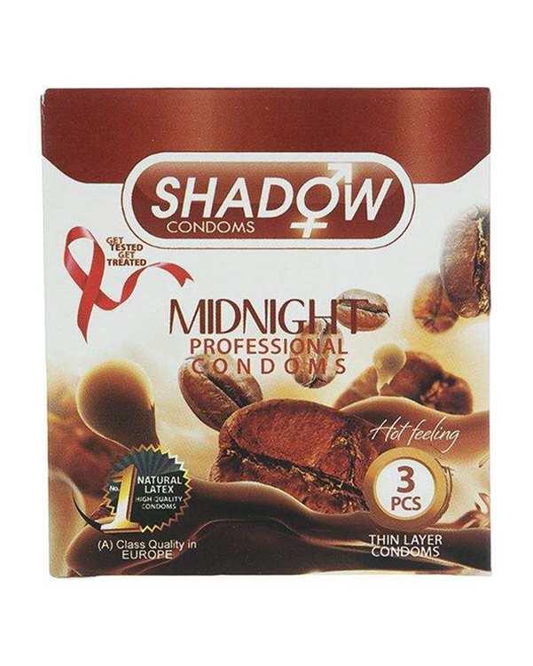 کاندوم خاردار مدل Midnight شادو بسته 3 عددی
