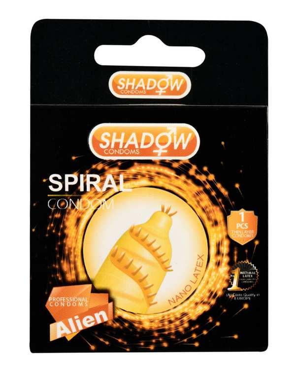 کاندوم فضایی چرخشی مدل Spiral شادو