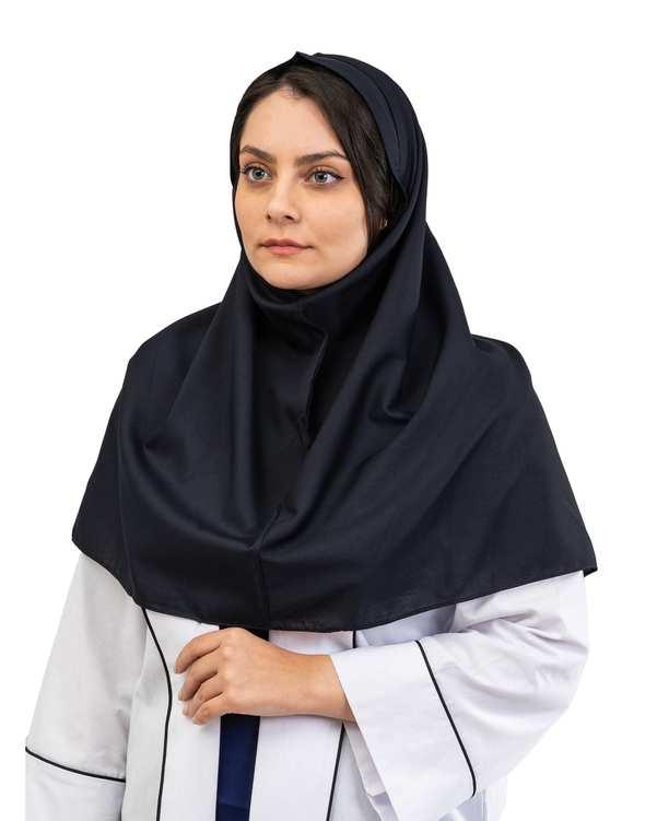 مقنعه زنانه مدل تل دار نخی قد 90 خاتون