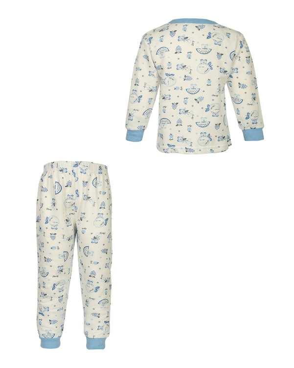 ست سویشرت و شلوار بچگانه سفید آبی سورا