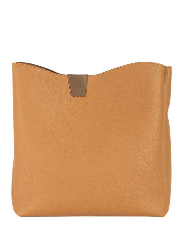 کیف چرم زنانه دستی نسکافه ای ابت