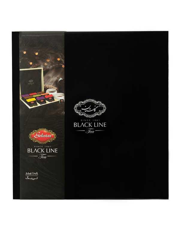 چای کیسه ای جعبه چوبی Black Line گلستانبسته 108 عددی