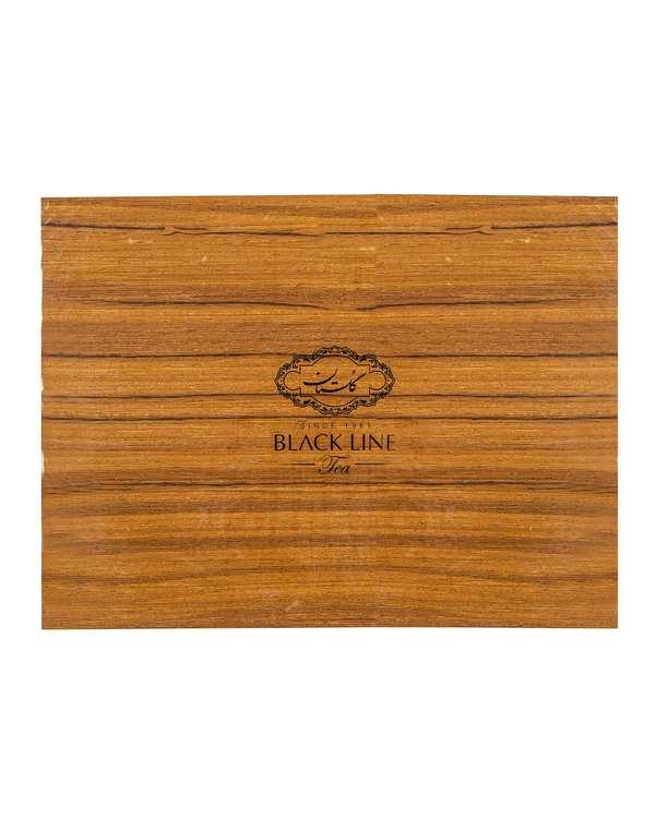 چای کیسهای جعبه چوبی Black Line گلستان بسته 72 عددی