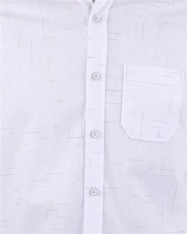 پیراهن پنبه ای مردانه سفيد Roni