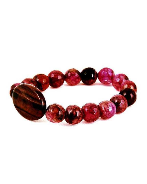 دستبند زنانه سنگ دانه اناری مارکیز
