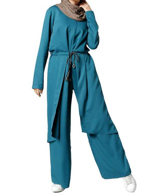 سرهمی زنانه آبی Refka