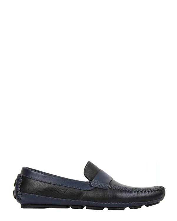 کفش کالج چرم مردانه مشکی سرمهای Jackal gando