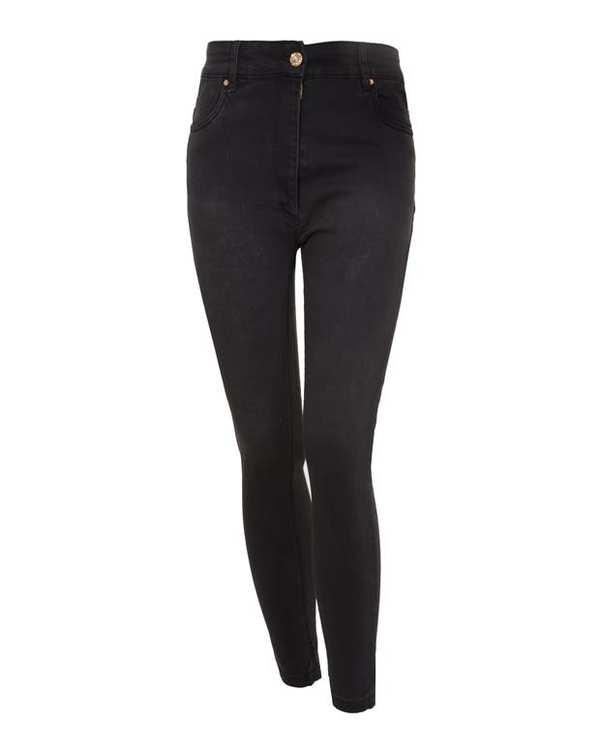 شلوار زنانه جین زغالی درسا تن پوش