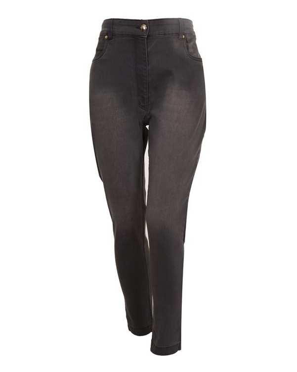 شلوار زنانه جین مام استایل خاکستری درسا تن پوش