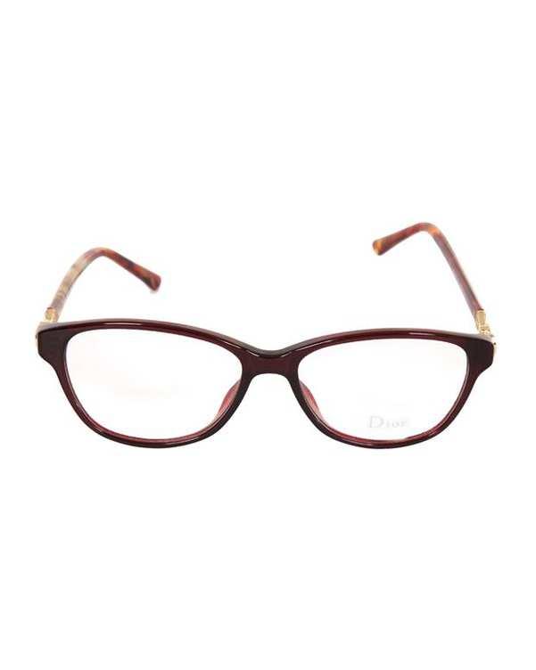 فریم عینک طبی زنانه بیضی زرشکی لاکی Dior
