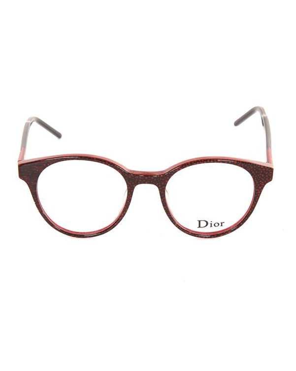 فریم عینک طبی زنانه گرد قرمز Dior