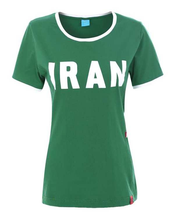 تی شرت تیم ملی زنانه سبز ایران ناسیونال