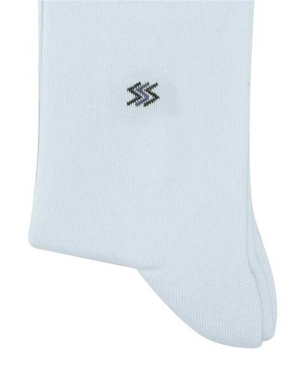 جوراب مردانه ساق بلند نانو آنتی باکتریال سفید هاینو