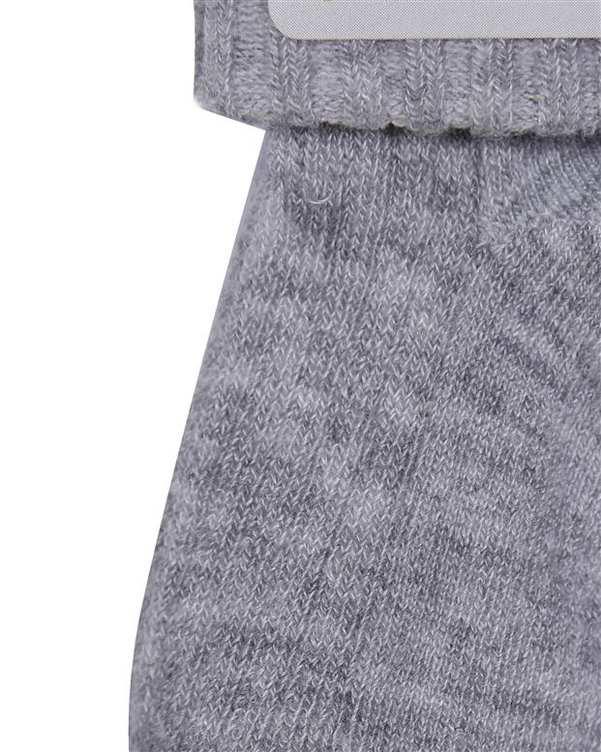 جوراب نوزادی دخترانه ساق دار آنتی باکتریال طوسی هاینو