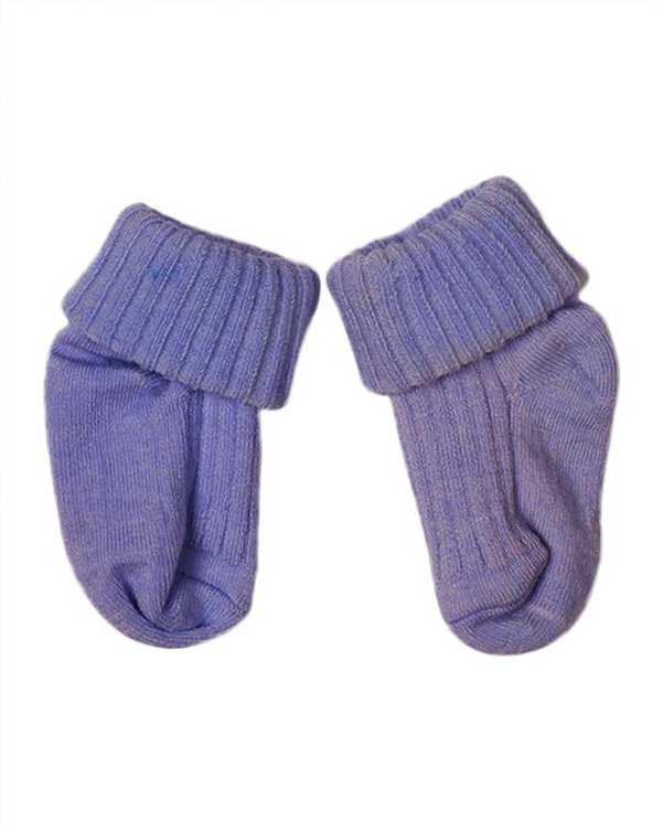 جوراب نوزادی دخترانه ساق دار آنتی باکتریال بنفش هاینو