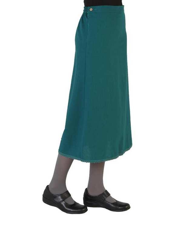 دامن زنانه سبز تیره انارگل