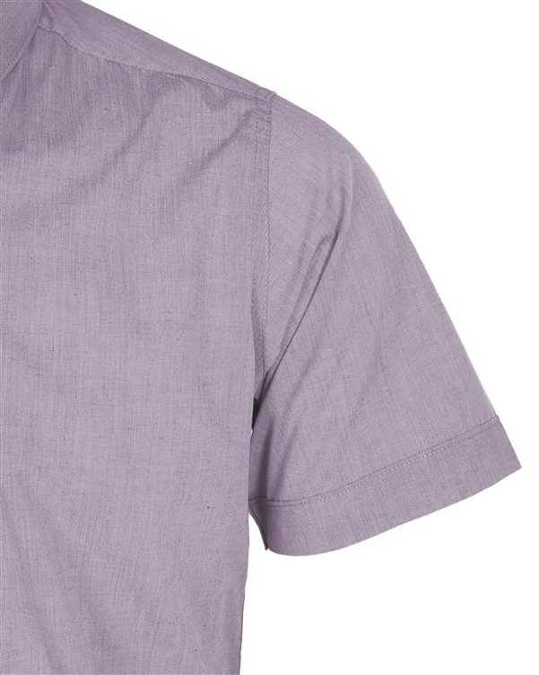 پیراهن مردانه آستین کوتاه بنفش روشن تیدا