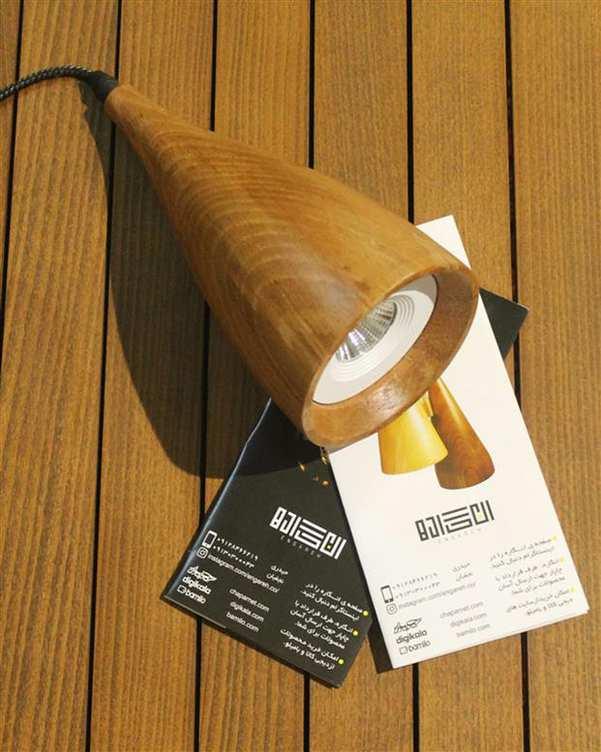 چراغ آویز چوبی با لامپ Asa 2 انگاره