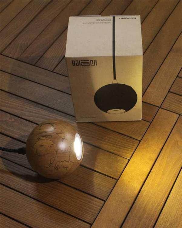 چراغ آویز چوبی با لامپ Kahroba 1 انگاره