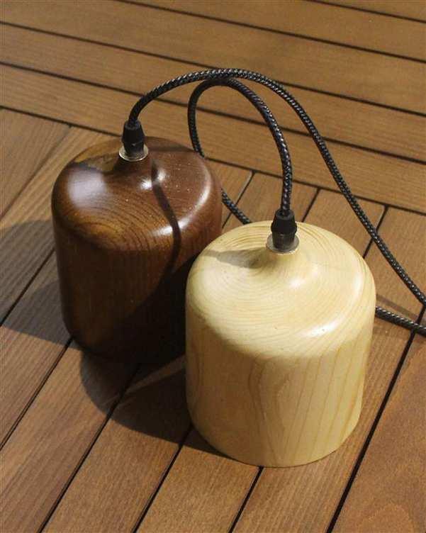 چراغ آویز چوبی با لامپ Magma 1 انگاره