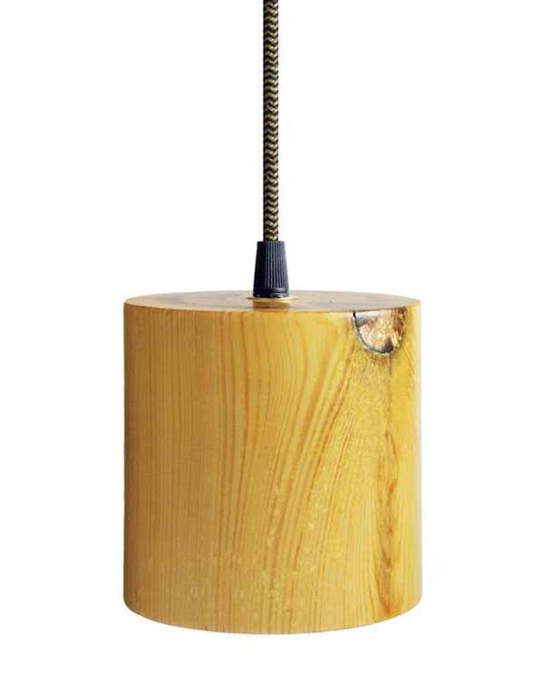 چراغ آویز چوبی با لامپ Magma 2 انگاره