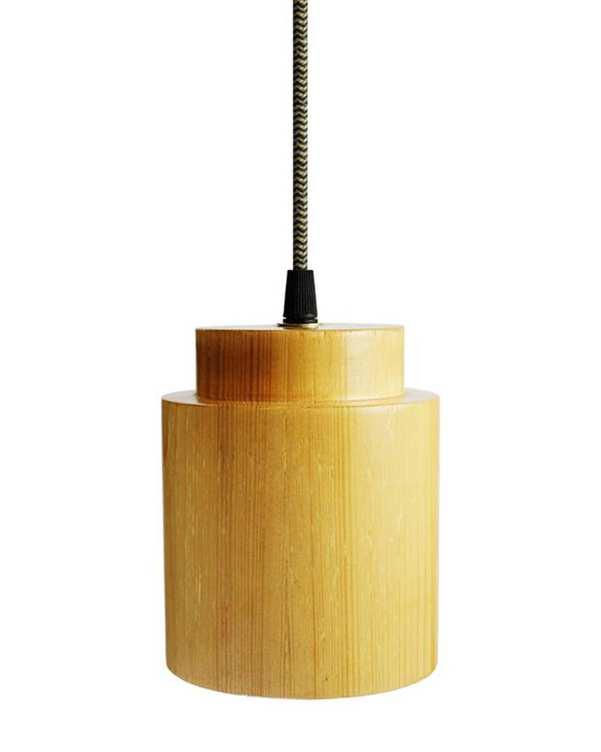 چراغ آویز چوبی با لامپ Magma 3 انگاره