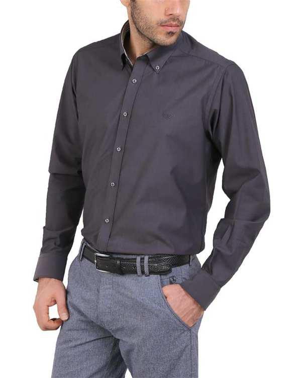 پیراهن مردانه نخی زغالی Cera Alba