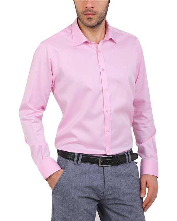 پیراهن مردانه نخی صورتی Cera Alba