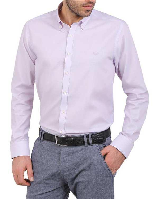 پیراهن مردانه نخی یاسی Cera Alba
