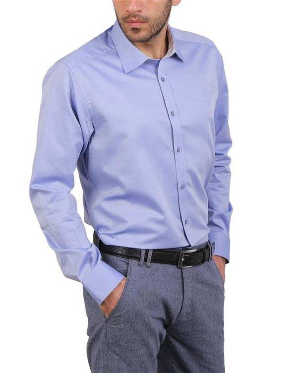 پیراهن مردانه نخی آبی Cera Alba