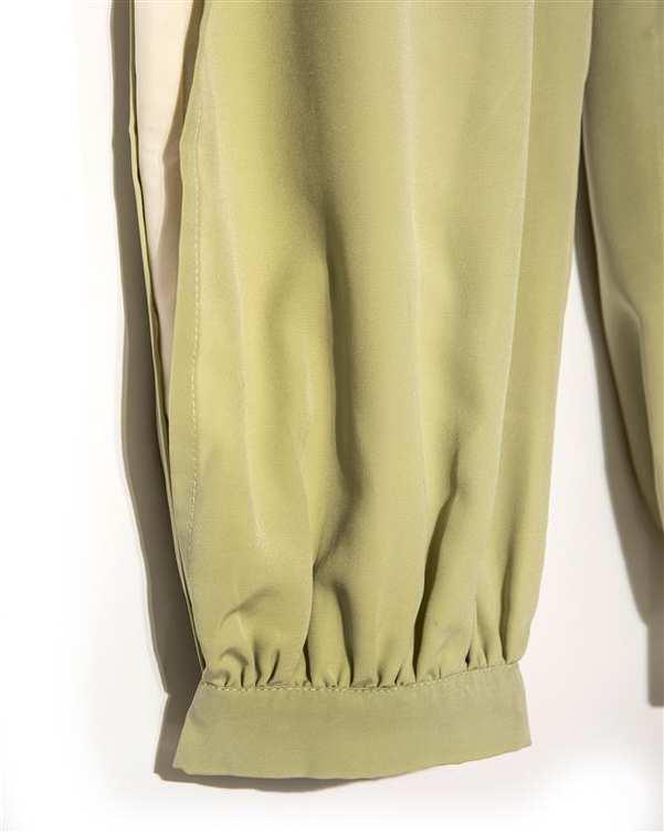 شلوار کرپ پارچه ای زنانه سبز Amahi