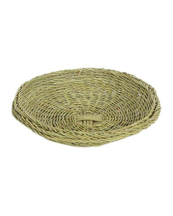 بشقاب چوب بادام دستباف سبز Zinu