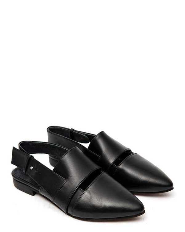 کفش چرم زنانه رسمی مشکی Amahi