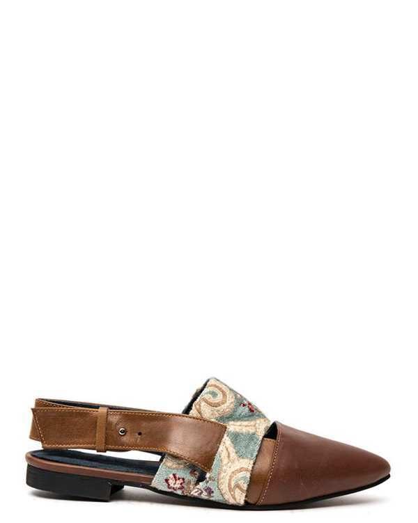 کفش چرم زنانه رسمی قهوه ای Amahi