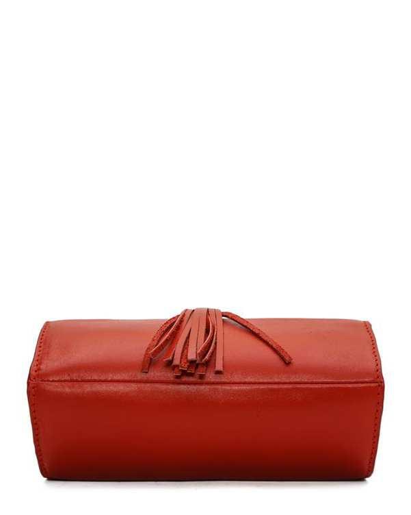 کیف چرم زنانه دوشی قرمز Mohami